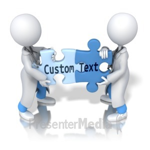 ID# 12406 - Solving Custom Text Puzzle - Presentation Clipart