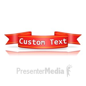 ID# 12426 - Custom Red Flag Banner - Presentation Clipart