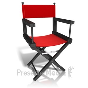 ID# 12446 - Movie Directors Chair - Presentation Clipart