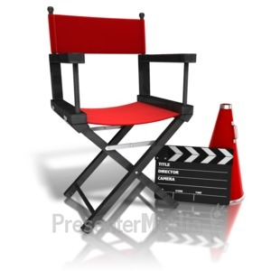 ID# 12452 - Movie Directors Equipment - Presentation Clipart