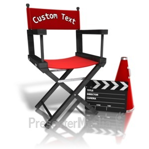 ID# 12462 - Custom Movie Directors Equipment - Presentation Clipart