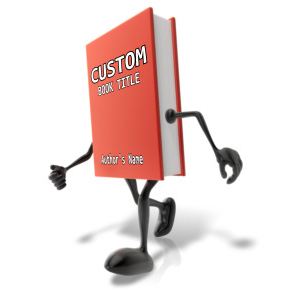 ID# 12465 - Custom Walking Book Character - Presentation Clipart