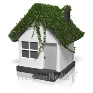 ID# 12466 - Ivy Covered House - Presentation Clipart