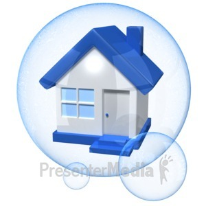 ID# 12470 - House Bubble - Presentation Clipart