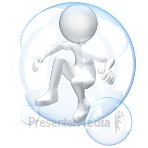 ID# 12478 - Figure In Bubble - Presentation Clipart