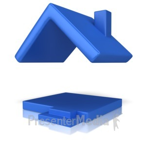 ID# 12500 - House With Just A Roof - Presentation Clipart