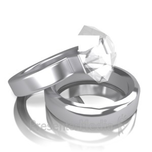 ID# 12504 - Two Rings - Presentation Clipart