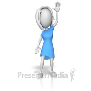 ID# 12536 - Woman Raising Hands - Presentation Clipart