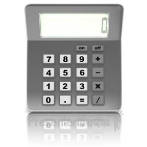 ID# 12540 - Front Of Calculator - Presentation Clipart