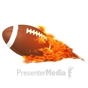 ID# 12569 - Football Flaming - Presentation Clipart