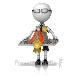 ID# 12599 - Award Winning Science Project - Presentation Clipart