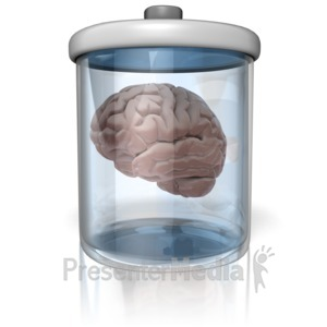 ID# 12603 - Brain In A Jar - Presentation Clipart