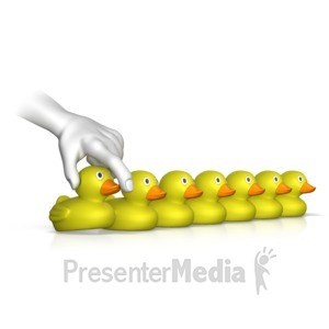 ID# 12643 - Getting Ducks In A Row - Presentation Clipart