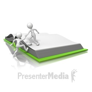ID# 12654 - Getting On The Same Page - Presentation Clipart