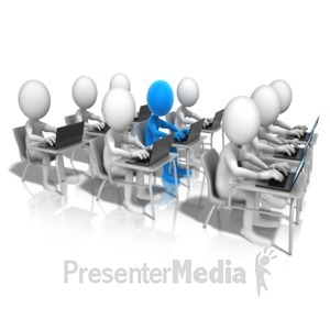 ID# 12680 - Highlight Laptop Student - Presentation Clipart
