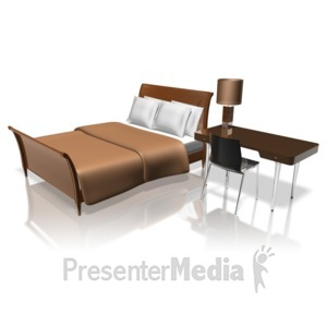 ID# 12721 - Hotel Room - Presentation Clipart