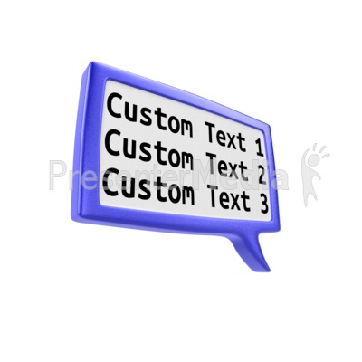 Custom Square Discussion Box PowerPoint Clip Art