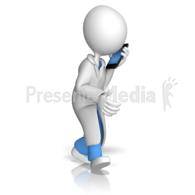 Doctor or Nurse Talking On Phone PowerPoint Clip Art