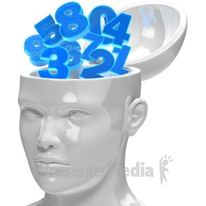 ID# 12763 - Numbers In Open Head - Presentation Clipart