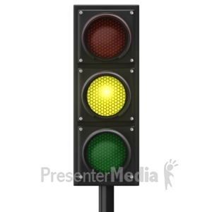ID# 12840 - Traffic Light Yellow Front - Presentation Clipart