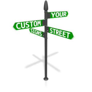 ID# 13089 - Custom Four Street Sign - Presentation Clipart