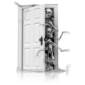 ID# 13095 - Skeletons In The Closet - Presentation Clipart