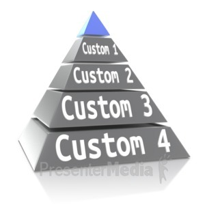 ID# 13120 - Custom Five Point Pyramid - Presentation Clipart