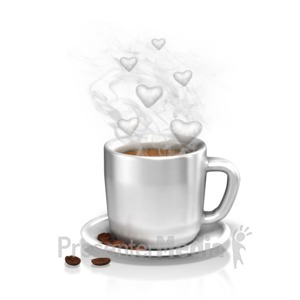 ID# 13124 - The Love of Coffee - Presentation Clipart