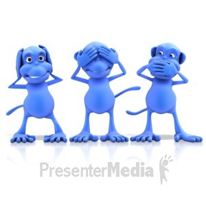 ID# 13131 - Hear See Speak No Evil - Presentation Clipart