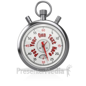 ID# 13159 - Custom Stopwatch With Hands - Presentation Clipart