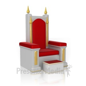 ID# 13173 - Throne - Presentation Clipart