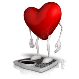 ID# 13180 - Heart On A Scale - Presentation Clipart