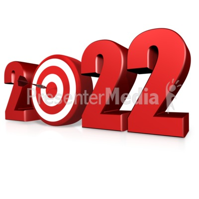 Custom Year Bullseye PowerPoint Clip Art