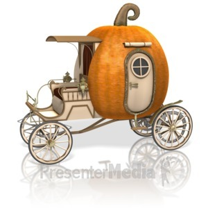 ID# 13223 - Pumpkin Carriage - Presentation Clipart