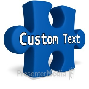 ID# 13256 - Single Custom Puzzle Piece - Presentation Clipart