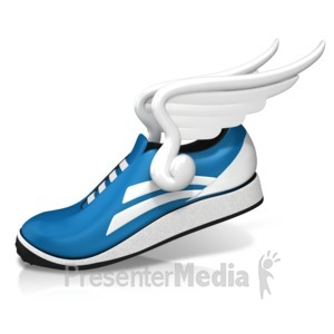 ID# 13298 - Shoe Fly Wings - Presentation Clipart