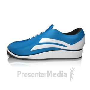 ID# 13311 - Single Running Shoe - Presentation Clipart