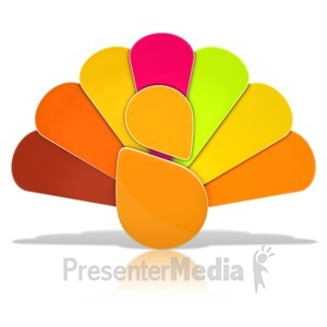 ID# 13397 - Thanksgiving Turkey Icon - Presentation Clipart