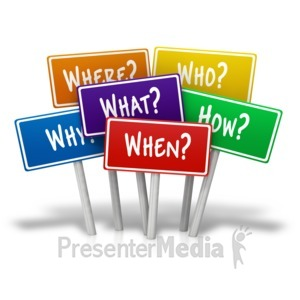 ID# 13402 - Multiple Signs Questions - Presentation Clipart