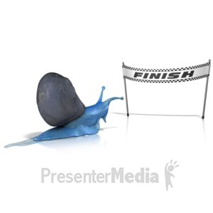 ID# 13416 - Race at a Snails Pace - Presentation Clipart