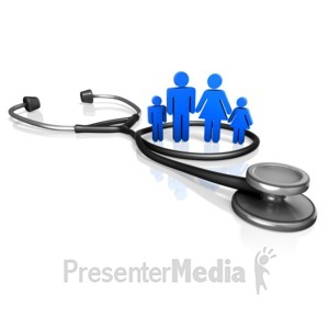 ID# 13470 - Family Doctor Stethoscope - Presentation Clipart