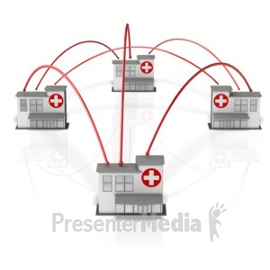 ID# 13494 - Hospital Network - Presentation Clipart