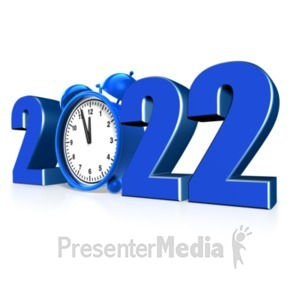 ID# 13510 - Custom Year Alarm Clock - Presentation Clipart