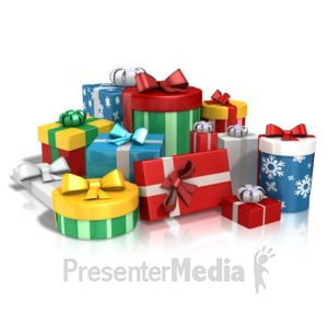 ID# 13563 - Lots Of Gifts - Presentation Clipart