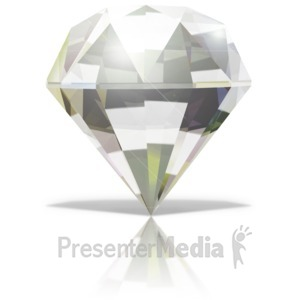 ID# 13581 - Single Diamond - Presentation Clipart