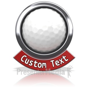ID# 13596 - Golf Chrome Banner - Presentation Clipart