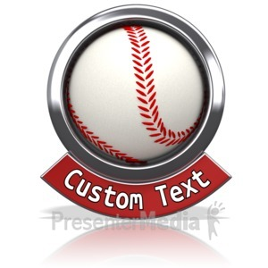 ID# 13602 - Baseball Chrome Banner - Presentation Clipart
