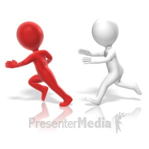 ID# 13609 - Figure Chase Another - Presentation Clipart