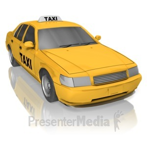 ID# 13614 - Taxi - Presentation Clipart