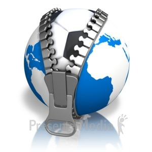 ID# 13633 - Earth Soccerball Reveal - Presentation Clipart